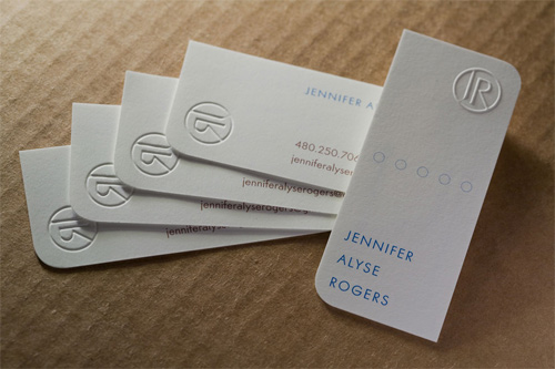 Designing and producing business cards embossing colourmoves