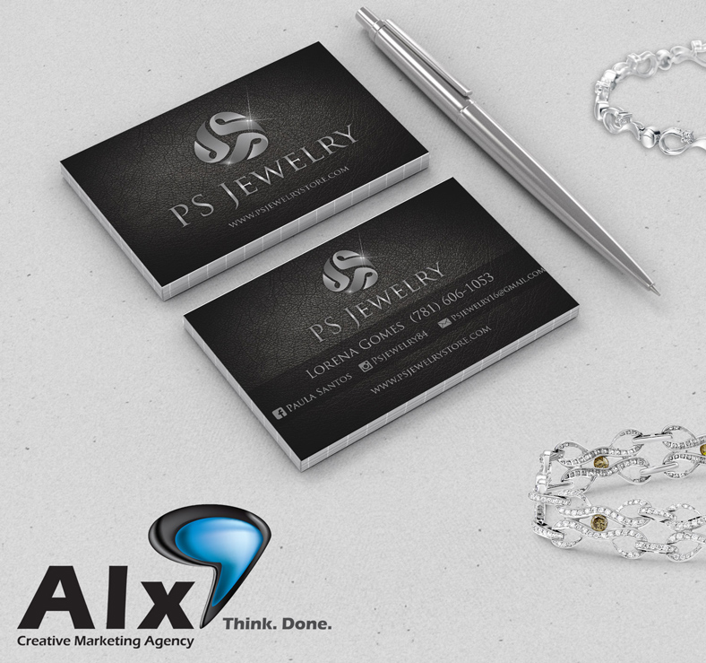 PS Jewelry - Business Cards | Alx Creative Marketing Agency
